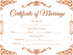 Marriage Registration, Marriage Certificate