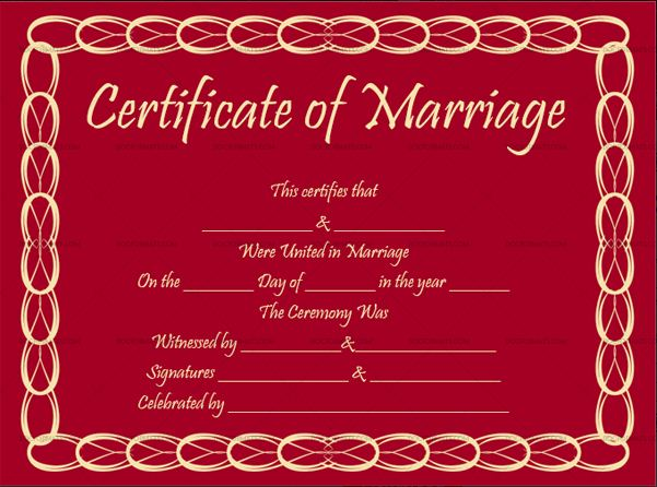 Marriage Certificate Online